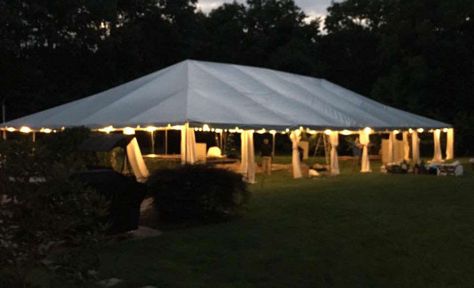 Lighted Tent at Night & Queens Tent u0026 Party Rental - (718) 690-7780