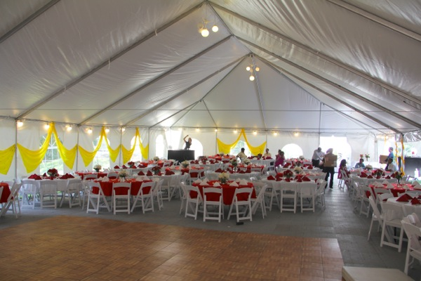 Queens tent party rental 718 690 7780 inside tent seating linens and lighting publicscrutiny Images